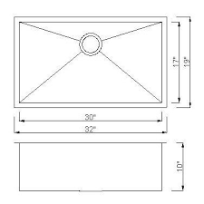 Sink Dimensions Kitchen by F3219s Square Single Bowl Stainless Steel Undermount Kitchen Sin