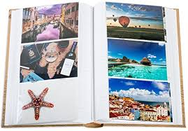 travel photo album 4x6 vacation photo album holds 300 4x6 inch photos by