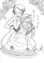 black butler sebastian coloring pages sketch coloring page