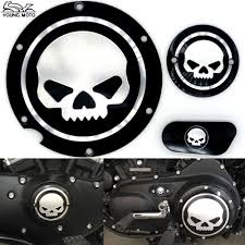 aliexpress com buy black motorcycle skull timing cover timing