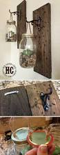 20 diys for your rustic home decor faux flowers jar and walls