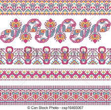 ukraine pattern vector embroidered good like handmade cross stitch ethnic ukraine clip