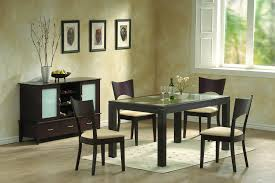 Contemporary Dining Room Tables Modern Dining Room Furniture Frosted Glass And Chocolate Brown