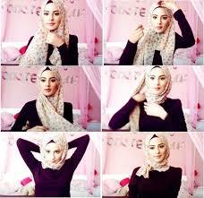 tutorial memakai jilbab paris yang simple quick beautiful hijab tutorial 1make up pinterest beautiful