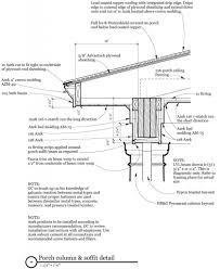 porch column and soffit details how to construction