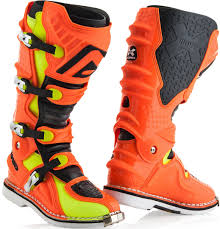 hinged motocross boots acerbis x move 2 0 motocross boots offroad orange yellow acerbis