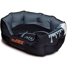 tough dog beds toughdog performance max sporty comfort cushioned dog bed pb38bk