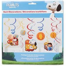 peanuts hanging decorations supplies walmart