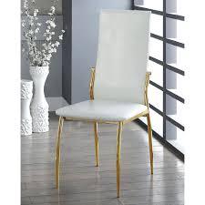 Gold Dining Chairs Furniture Of America Duarte Iii Modern Crocodile Textured