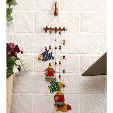 buy unravel india terracotta bells n birds wind chime online in india