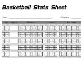 Stat Sheet Template Printable Basketball Stats Sheet By Basketballxpert Com