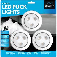 led puck lights amazon brilliant evolution brrc153ir wireless led puck light 3 pack works