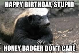Honey Badger Meme Generator - happy birthday stupid honey badger don t care honey badger don t