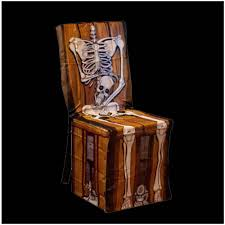 skeleton chair cover halloween prop mad about horror