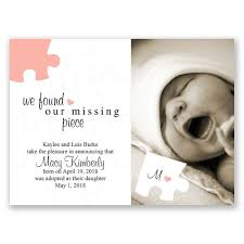 baby announcements the missing adoption announcement invitations by