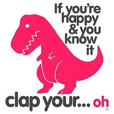 t rex happy and you it if you re happy and you it t rex tri blend t shirt by