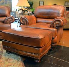 Chair And A Half Recliner Leather Ottoman Oversized Leather Chair And Ottoman A Half Recliner