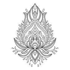 vektorgrafik henna tattoo flower template in indian style