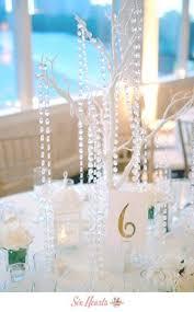 Manzanita Tree Centerpieces White Manzanita Tree Centerpieces With Hanging Crystals Included
