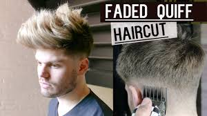 faded quiff haircut and style tutorial men u0027s hair 2016 youtube