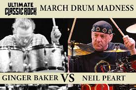 Ginger Baker Blind Faith Ginger Baker Vs Neil Peart March Drum Madness