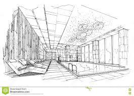 interior design sketch sketch interior perspective swimming pools black and white
