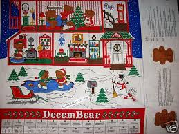 christmas advent calendar beary merry christmas advent calendar includfed fabricl panel