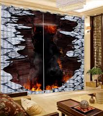 online shop creative art 3d bedroom curtains fire design painting
