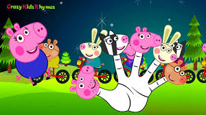 peppa pig finger family daddy finger family nursery rhyme