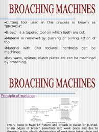 broaching 1 1 ppt machining tools