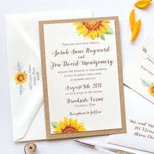 Sunflower Wedding Programs Unique Wedding Invitations U0026 Stationery Mospens Studio