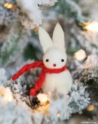 felt bunny ornaments lia griffith