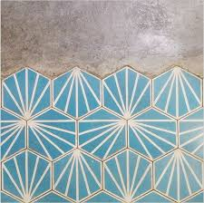 turquoise bathroom floor tiles the new bohemians kitchens pattern concrete and patterns