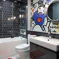 Teenage Bathroom Themes Cool Boy Teenage Bathroom Ideas With Grey Ceramic Tile And Wall