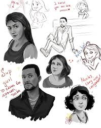 madhouse or twd sketches 3 by nateyou on deviantart