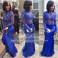 turmec royal blue long sleeve dresses for women
