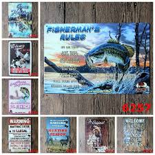 Hunting And Fishing Home Decor 2017 Warning Hunting Fishing Advertising Tin Sign Wall Decor