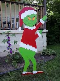 grinch standing grinch mikesyarddisplays