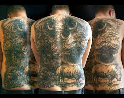large wild animal tattoos on back wildlife tattoo ideas