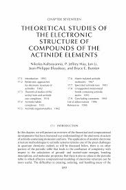 theoretical studies of the electronic structure of compounds of