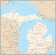 Iron Mountain Michigan Map by Michigan Map Wallpaper Wallpapersafari