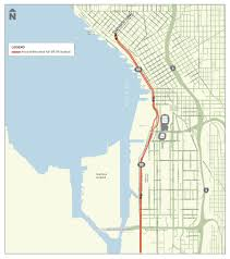 Seattle Street Map by Mark Your Calendars Alaskan Way Viaduct Closes For Approximately
