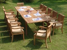 How To Refinish Teak Dining Table Round Teak Dining Table 7 Piece Grade A Teak Dining Set Patio