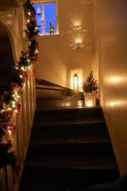 Christmas Lights For Stair Banisters Great Christmas Banister My One Yr Old Would Carry Those