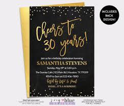 Where To Buy Birthday Invitation Cards Birthday Invitation Cheers To 30 Years Invite