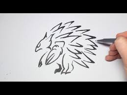 easy how to draw a tattoo style tribal pokemon sandslash for kids