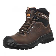 hansen vika mid s3 water resistant brown leather mens safety boots