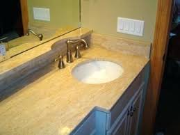 travertine bathroom vanity travertine top single stone sink