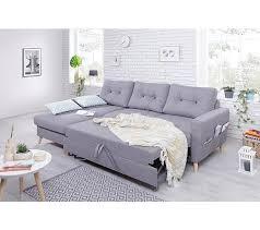 canapé d angle gris tissu canapé d angle gauche convertible tissu gris clair stockholm
