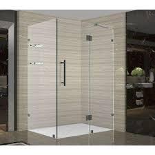24 Frameless Shower Door 24 Frameless Corner Shower Doors Shower Doors The Home Depot